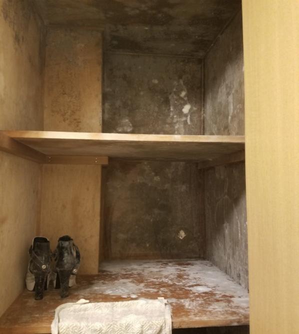 大阪カビ取りプロ:施工事例:木・押入れ施工前