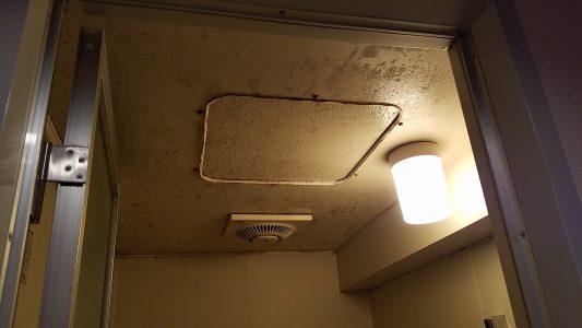 大阪カビ取りプロ:施工事例:天井施工前